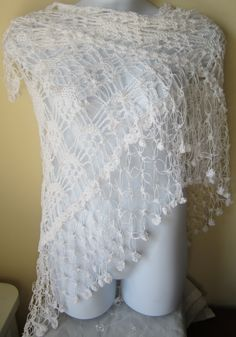 Crochet Lace Wedding Shawl Pattern : 1000+ images about wedding shawls, wraps, shrugs... on ...