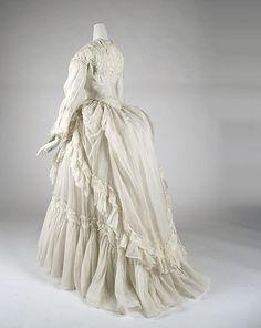 Dress  Date: ca. 1870 Culture: American Medium: (a–c) cotton; (d) linen