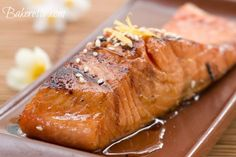 Marinated Baked Salmon by Bakerette.com  Let marinate all day then cook for less than 20 minutes.  Voila!  A superb dinner