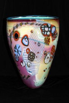 Signed Italian Art Glass Vase