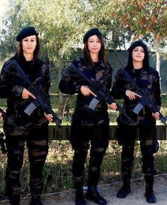 Turkish female special forces ,