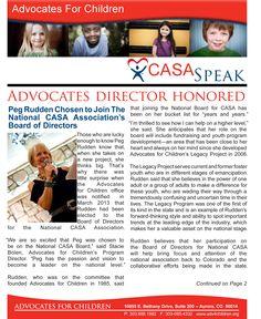 CASA Speak Spring 2013 Pg. 1
