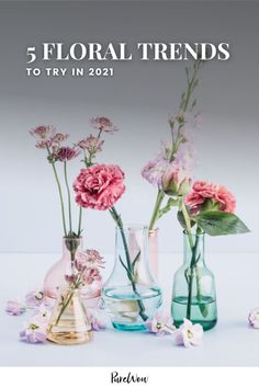 Here, five floral trends that we're seeing everywhere in 2021— plus two that have totally jumped the shark. #floral #bouquet #flowers Bouquet Box, Bouquet Flowers, Jump The Shark, Message Of Encouragement, Preserved Roses, How To Preserve Flowers, Zinnias, Jewel Tones, Earthy