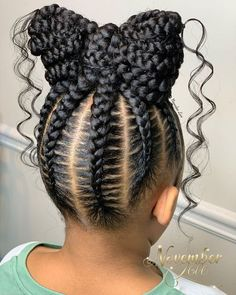Black Kids Braids Hairstyles, Little Girls Natural Hairstyles, Braids For Black Hair, Amazing Hairstyles, Kids Cornrow Hairstyles, Black Baby Girl Hairstyles, Prom Hairstyles, Little Girl Braids, Braids For Kids