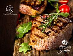 Una tradición que vive en el exquisito sabor de nuestra cocina. Lo invitamos los fines de semana a disfrutar de nuestras parrilladas en el jardín. #carne #parrilla #findesemana