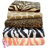 Safari Collection 100% Cotton Sheet Sets By Scent-Sation - XL Twin Size