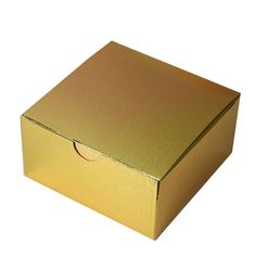 """100 PCS Gold Cake Muffin Favor Boxes Bridal Shower Party Favor Gift Container - 4""""x4""""x2"""""""