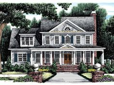 Dreaming this right now. Needs a little more square footage on the main floor, but the bones are marvelous. Would just about kill to have a brick porch and steps like this.