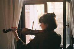 violin, girl, and music