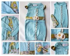 Upcycled Sweater Children's Dress One of a Kind by KingSoleil