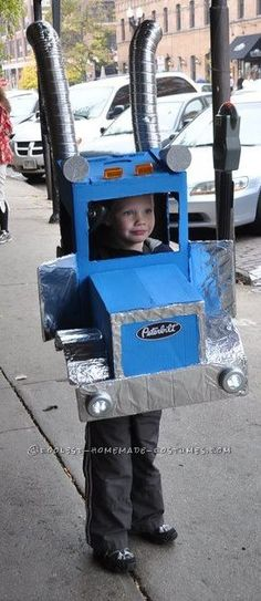 Awesome Child's Peterbilt Truck Halloween Costume... This website is the Pinterest of costumes