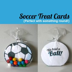 Hey soccer moms! This makes a perfect treat for the kiddos after a game. With gumballs or cheeseballs!