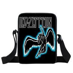 Rock Band Pink Floyd / Led Zeppelin / Nirvana Shoulder Bags Men Women Handbags Heavy Metal Mini Messenger Bag Punk Crossbody Bag
