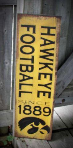 Iowa+Hawkeye+Football+Wood+Sign+by+HeartlandSigns+on+Etsy,+$20.95