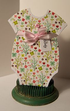 Make adorable onesie cards and announcements with this adorable AccuCut die shape!
