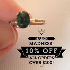 March Madness SALE!  10% off orders $100 or more! Coupon Code MARCH
