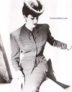 Couture Allure Vintage Fashion: Gilbert Adrian Suits