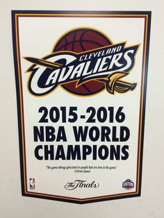 Cleveland Cavaliers NBA Finals 2016 Championship Banner Style Poster LeBron Cavs #ClevelandCavaliers