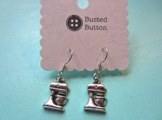 Busted Button Stand Mixer Earrings