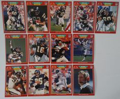 1989 Pro Set Series 1 San Diego Chargers Team Set of 13 Football Cards #SanDiegoChargers