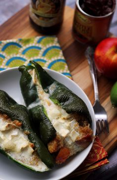 The spirit of Cinco de Mayo comes alive with these roasted nectarine, jalapeno, and brie stuffed poblanos. With a mix of sweet and spicy flavor, they are a fiesta in your mouth!