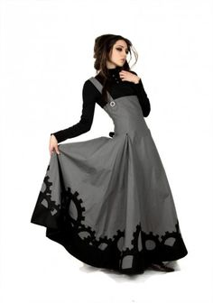 Simple steampunk dress