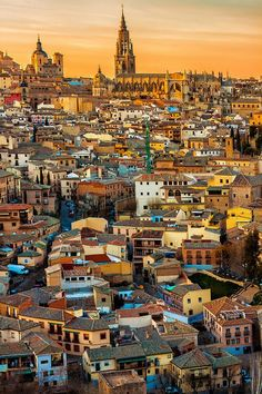 Sunset in Toledo, Spain. Photo by Adamjasonmoore. Toledo is a city located in central Spain, 70 km south of Madrid.