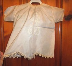 Vintage 1920s Baby Silk Christening Gown Satin Stitch Embroidery Antique Crochet Lace Dainty Dimpled Darling by UnDeadFashion on Etsy
