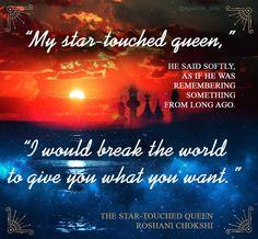 The Star-Touched Queen by Roshani Chokshi @rchoxi91 #TheStarTouchedQueen #FanArt #Graphic #Book #Books #Favorite #RoshaniChokshi