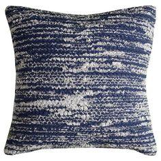 Stripes Throw Pillow Blue - (20x20) - Rizzy Home : Target