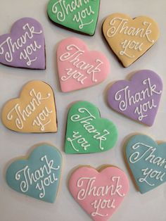 Thank you cookies, great for weddings or any occasion where a thank you is in order!