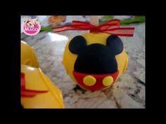 Maçãs decoradas turma do Mickey - YouTube