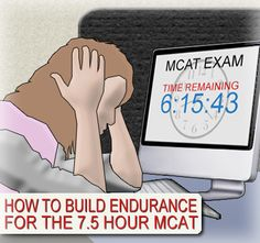 How to Build Endurance for the hour MCAT:Get comfortable sitting and studying for 95 minutes in one shot. Get comfortable doing this four times successively with short breaks in between. Pa School, Graduate School, School Tips, Mcat Study Tips, Gre Study, Study Hacks, How To Build Endurance, Getting Into Medical School, Chemistry Study Guide