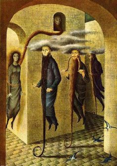 Locomocion Capilar by Remedios Varo, 1959. Oil on canvas.