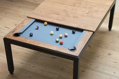 Vintage is a set of entertainment table, the latest collection from FusionTables. You can transform this dining table into a pool table in just seconds, we really love the blend between reclaimed wood timbers with a post-industrial metal frame, so unique yet stylish.