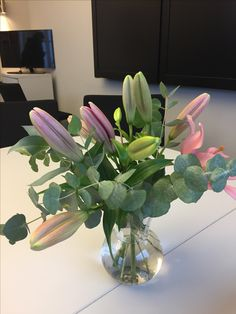 Blomster på kontoret Villa Fridhem