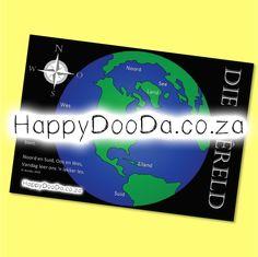 'n Tema muurkaart – Die Wêreld. Hierdie produk is in Afrikaans vir leerders 4-13 jaar. Home Schooling, Afrikaans, Hdd, Homeschool, Words, Afrikaans Language, Homeschooling