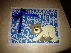 Marianne designs Polar bear and  Snowflake Christmas card