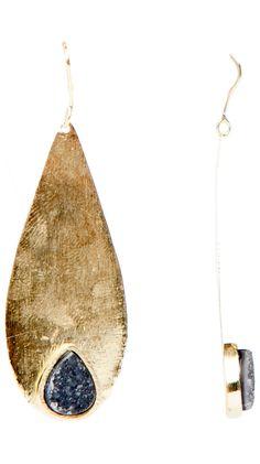 Flat Tear Earrings by Marcia Moran