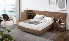 Diseños originales para dormitorios de diseño. Muebles en chapa natural de madera. Dormitorios modernos