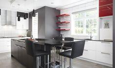 Armoires de cuisine contemporaines en bois de chêne rouge et acrylux