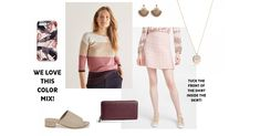 Our fancy Wednesday pick is an adorable pink skirt from Red Valentino. Its delicate yet sophisticated look totally charmed us! Office Looks, Petite Women, Plaid Skirts, Colourful Outfits, Cotton Sweater, Sweater Fashion, Summer Looks, Workwear, Chic Outfits