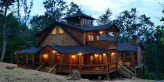 Just finished construction of Crows Nest rental cabin in Blue Ridge, Ga.