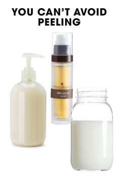 Sorry. But you can minimize the ick factor (and keep the new skin underneath as nourished as possible) by staying moisturized at all times. Slather on fragrance-free lotion, coconut oil, or shea butter. We also love Bottega Organica's After Sun Oil, which contains soothing extracts of lavender and peppermint, as well as natural antioxidants and vitamins to help speed up regeneration. Also: It's tempting, but don't peel off the skin yourself! Let it fall off on its own.   - ELLE.com