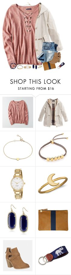 """"" by moseleym ❤ liked on Polyvore featuring American Eagle Outfitters, Burberry, Blue Nile, Gap, Monica Vinader, Kate Spade, BillyTheTree, Kendra Scott, Clare V. and Avenue"