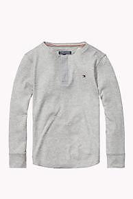 De Henley Van Gemengd Katoen is het hoogtepunt van dit seizoen: Uit de nieuwste Tommy Hilfiger t-shirts collectie voor kids. Gratis verzending vanaf