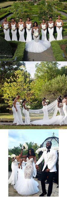 Bridesmaid Dresses Long Dress White Mermaid