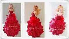 Artesanato e variedades  : Boneca com vestido em eva
