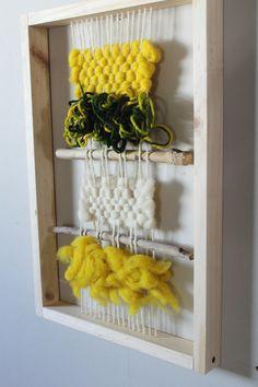 Tamaño 30 x 50 cm Weaving Tools, Weaving Art, Tapestry Weaving, Loom Weaving, Hand Weaving, Design My Room, Door Design, Weaving Wall Hanging, Fabric Art