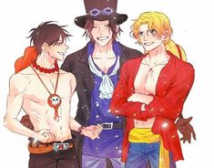 One Piece Comic, Ace One Piece, One Piece Crew, One Piece Fanart, One Piece Manga, One Piece Images, One Piece Pictures, Luffy Gear 4, Ace Sabo Luffy